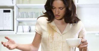 Как удалить пятная чая или кофе с одежды