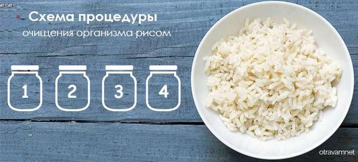 Очищение организма рисом 5 банок