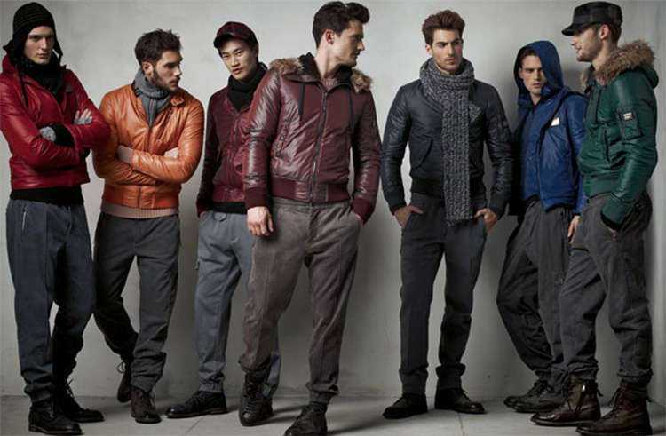 зима мода для мужчин