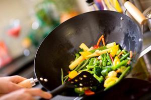Овощи по китайски в воке