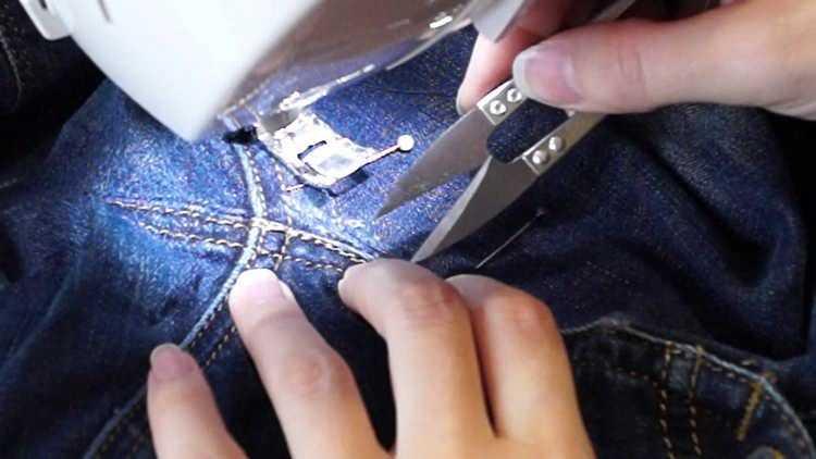 Как зашить джинсы между ног незаметно и аккуратно, вручную и на машинке
