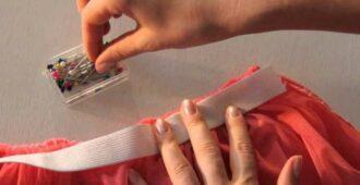 Как пришить резинку к юбке вместо пояса своими руками: стильные лайфхаки