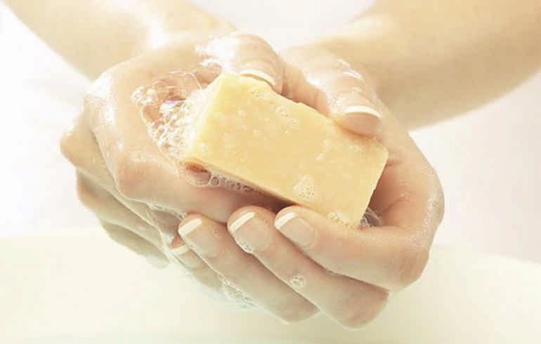 применение хозяйственного мыла - антисептик