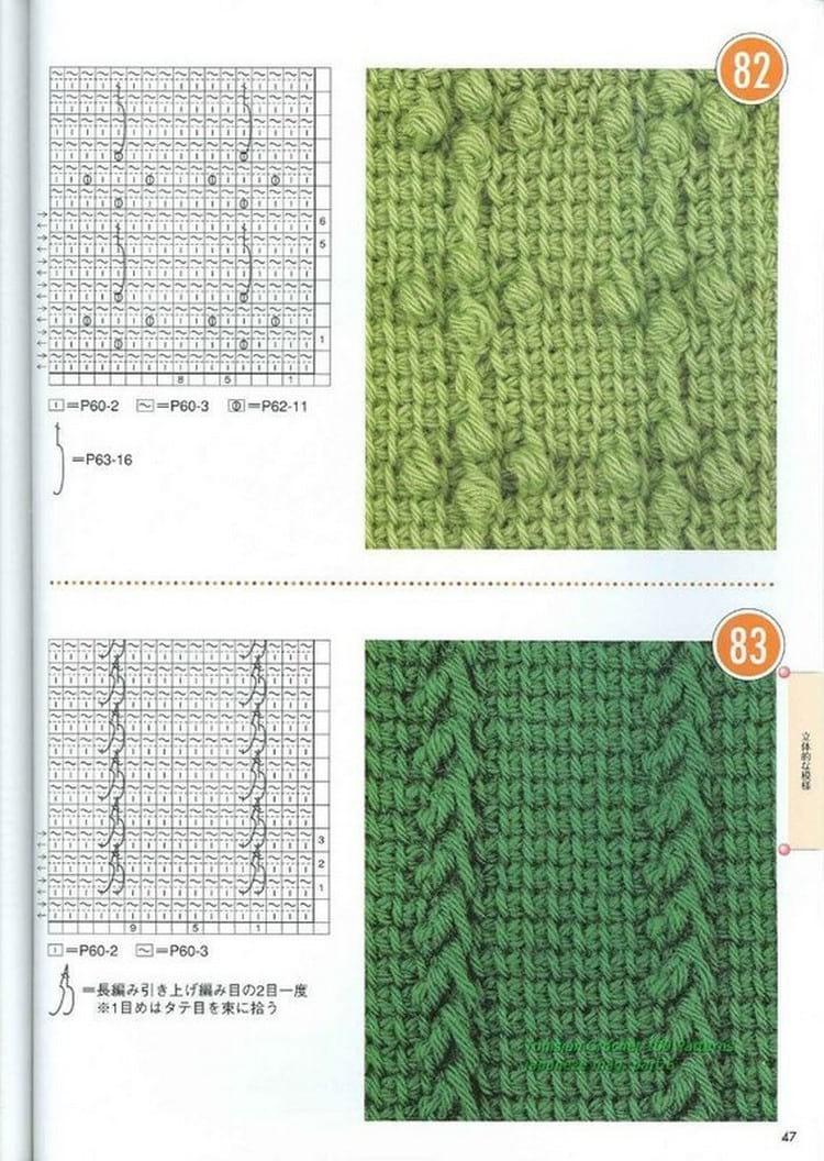 Техника тунисского вязания крючком для начинающих: орнаменты и фото