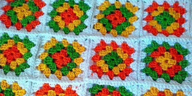 бабушкин квадрат для начинающих осваиваем технику вязания