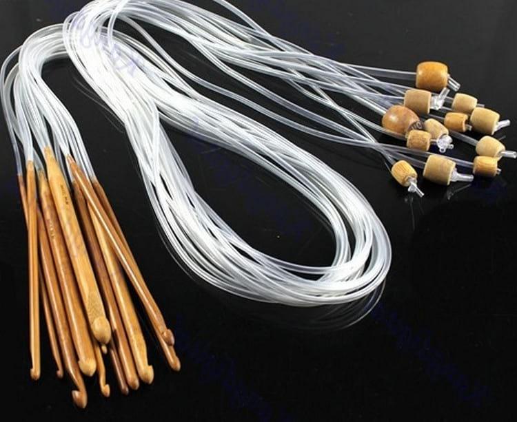 техника тунисского вязания крючком
