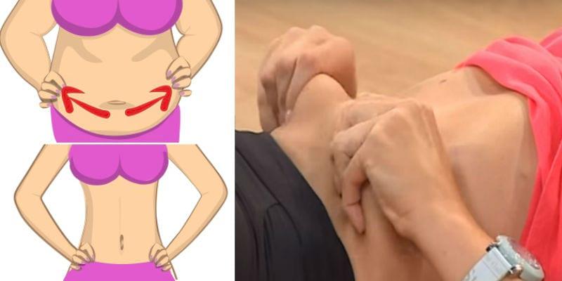 массаж живота для похудения