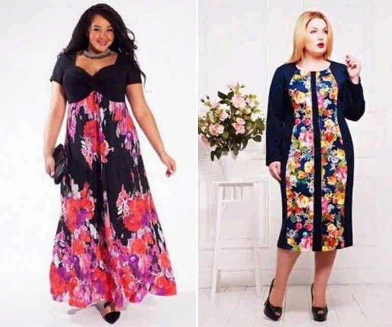 Стильные летние платья для полных женщин