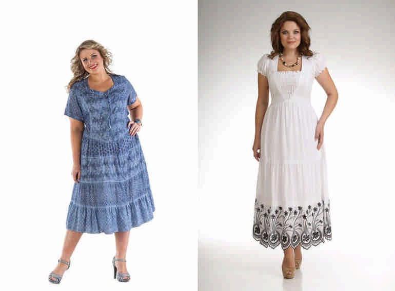 1745bff167bf1ec Летние платья для полных женщин: разнообразие стиля