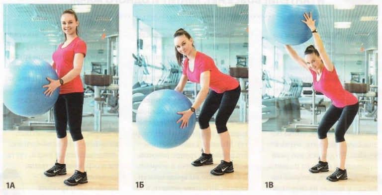 домашние упражнения с фитболом