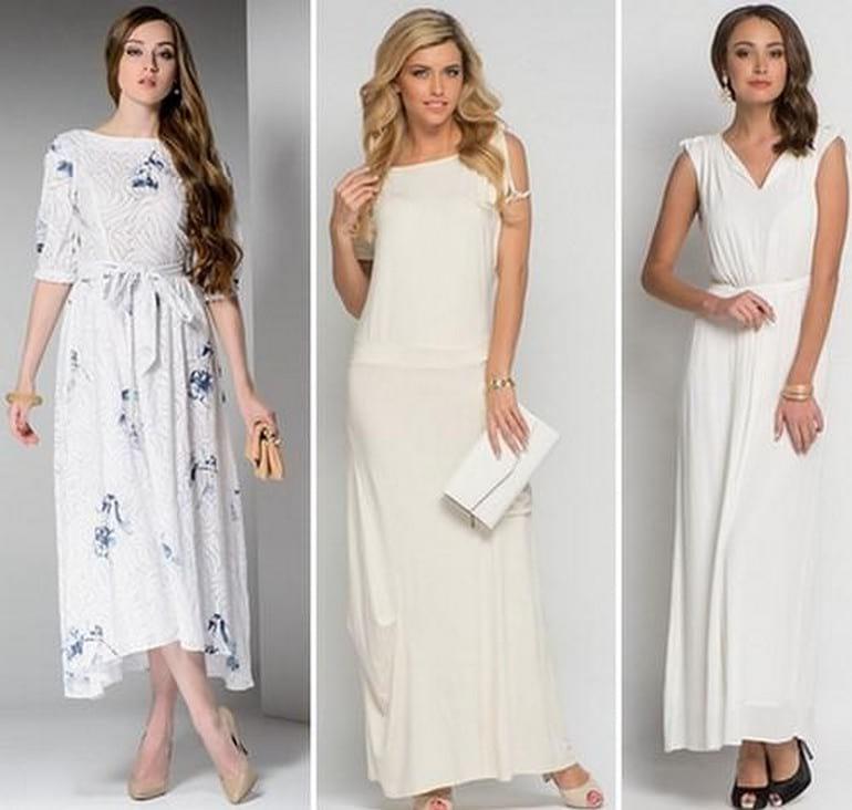 платье для женщин белого цвета