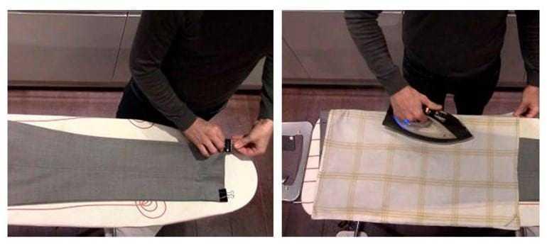 Как гладить брюки со стрелками и без, утюгом и отпаривателем