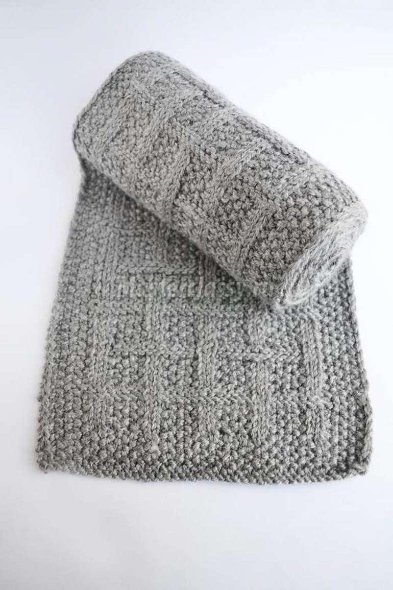 узоры для мужского шарфа спицами с описанием схемы