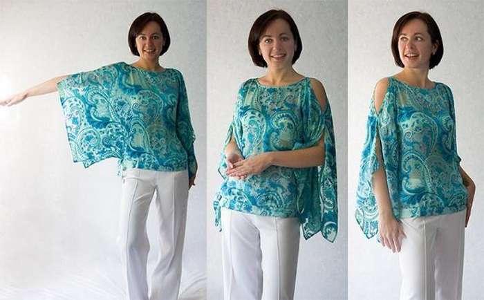 Как сшить блузку своими руками без выкройки за один вечер