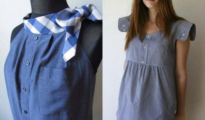 Что можно сшить из мужской рубашки для детей и женщин: интересные переделки