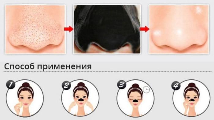 маска на область носа