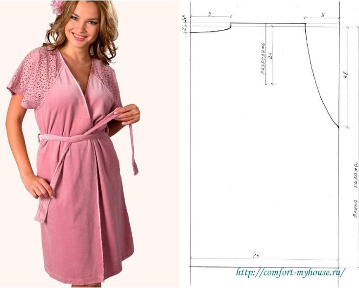fb04953ea82defa Как сшить домашний халат без выкройки: разные приемы и модели