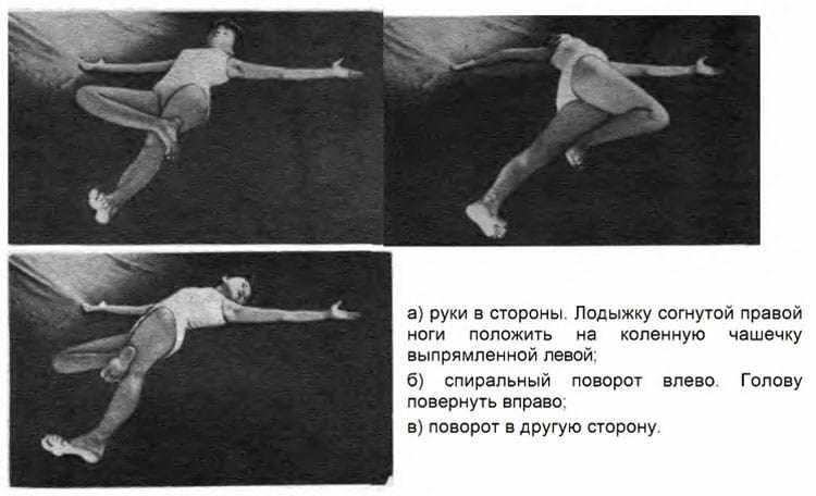 Упражнения Крокодил для позвоночника